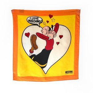 Moschino square silk scarf Olive Oyl from Popeye